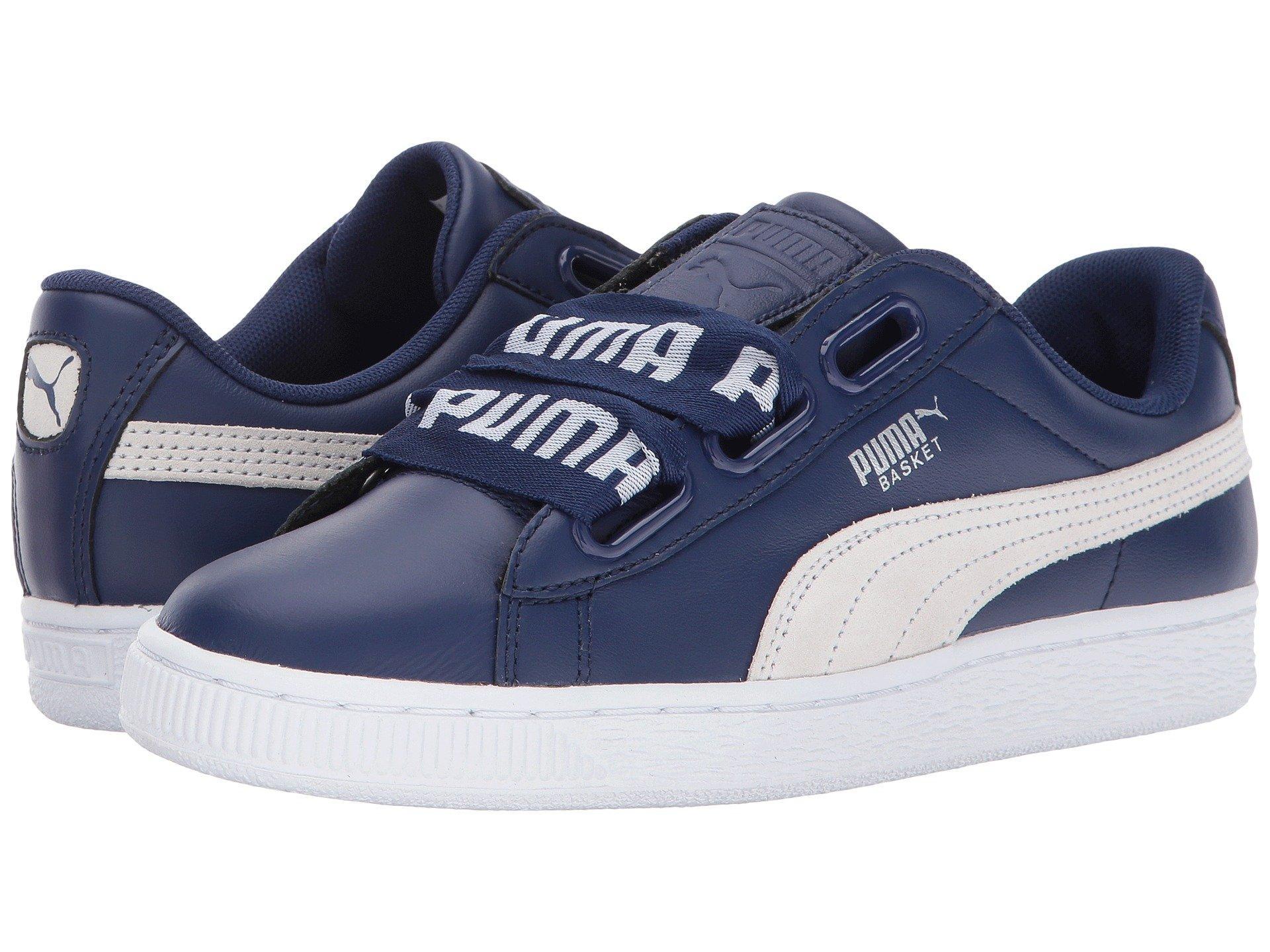 Puma Basket Heart Denim In Blue Depths/ White