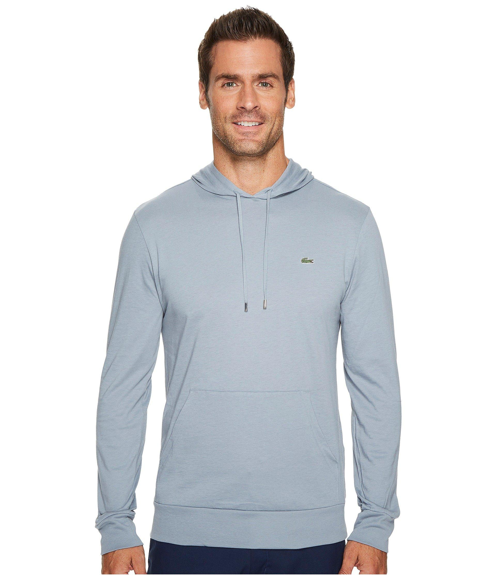 80b9ca848d Lacoste Jersey T-Shirt Hoodie In Mill Blue | ModeSens