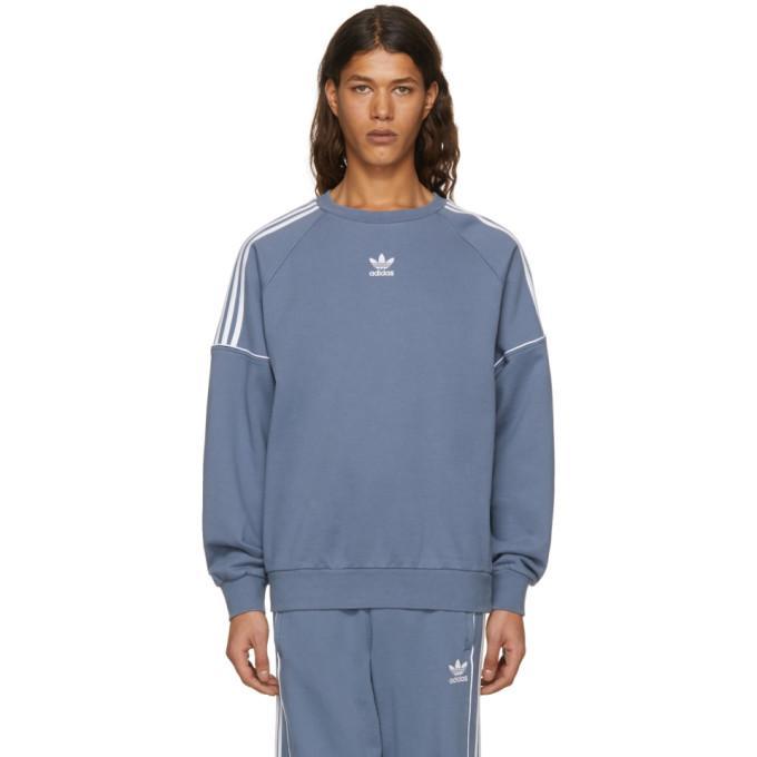 Adidas Originals Grey Pipe Crew Sweatshirt In Raw Steel