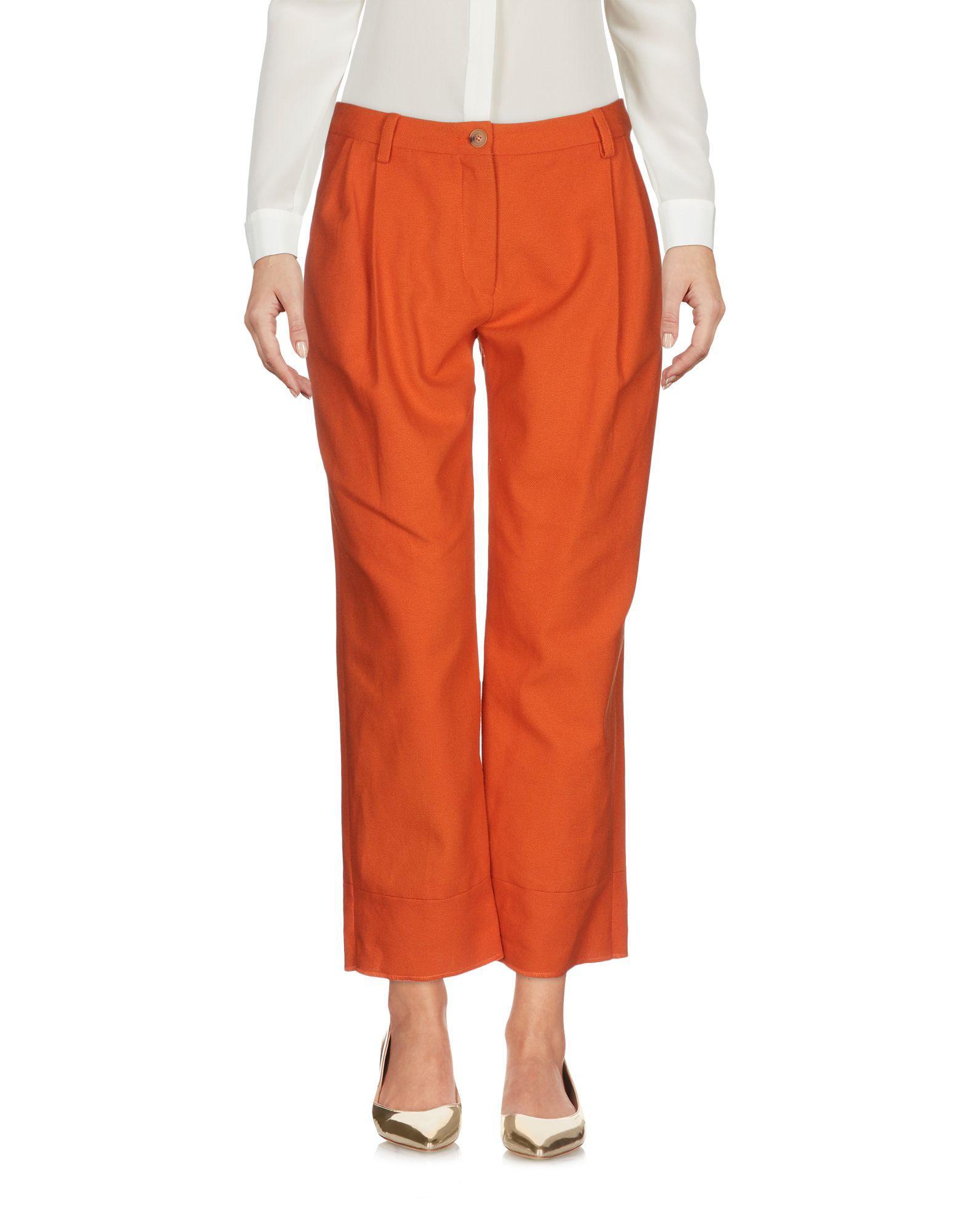 Daniela Pancheri Cropped-hosen & Culottes In Orange