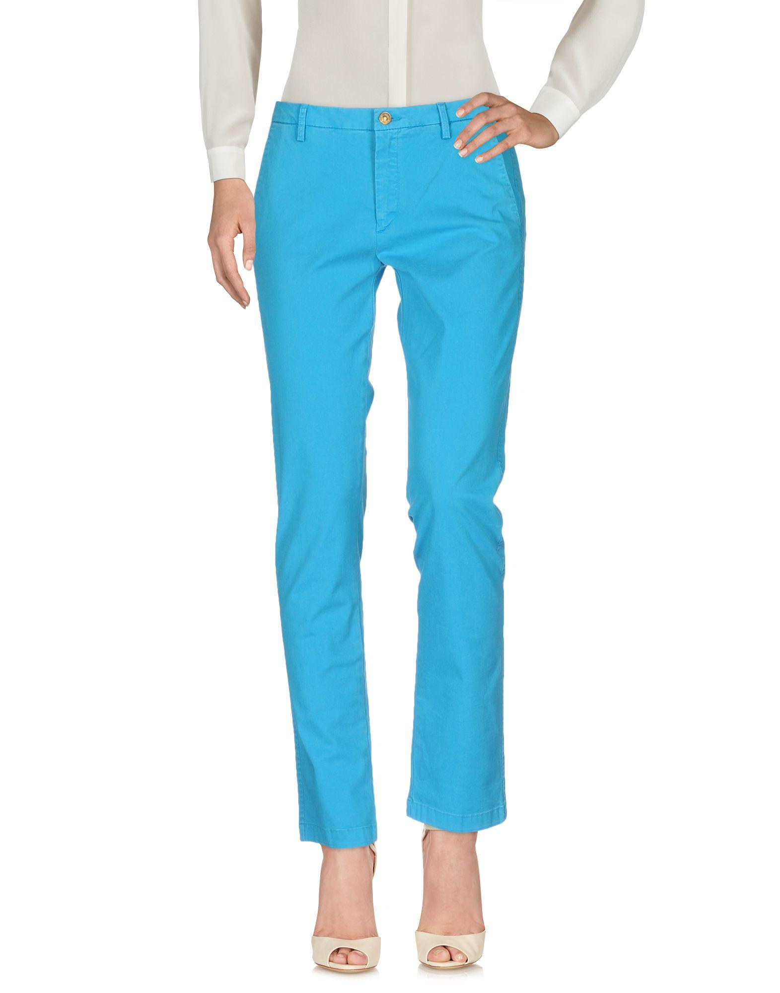 7 For All Mankind Casual Pants In Turquoise
