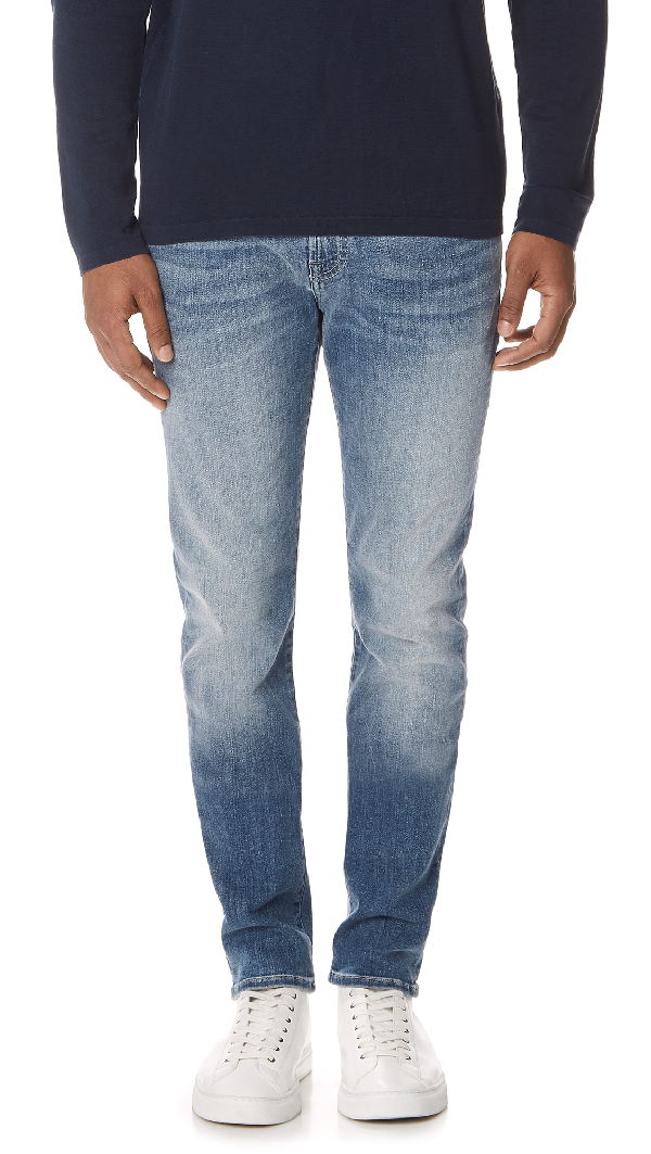 7 For All Mankind Paxtyn Clean Pocket Jeans In Authentic Vortex