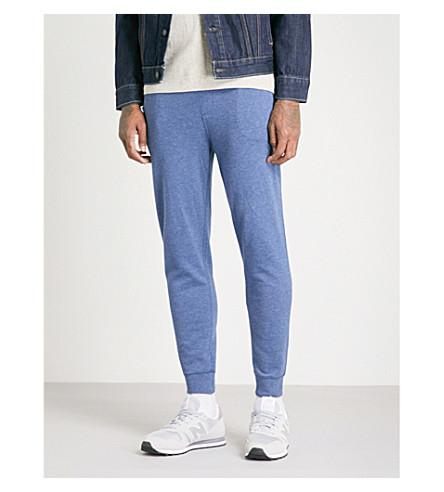 Polo Ralph Lauren Double-Knit Cotton-Jersey Track Pants In Derby Blue Heather