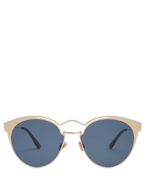 58a5c2db29be Dior Eyewear - Nebula Cat Eye Metal Sunglasses - Womens - Rose Gold ...