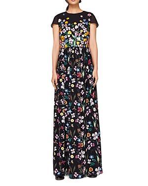 905d3bbfc5e23 Ted Baker Embroidered Floral Mariz Maxi Dress - Black