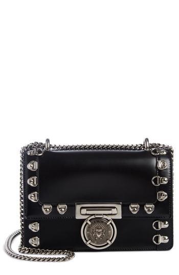 c01882b1624 Balmain Stud Glace Leather Box Shoulder Bag - Black | ModeSens