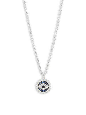 ddd748468 Judith Ripka Sapphire Evil Eye Pendant Necklace In Silver   ModeSens