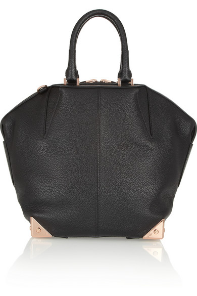 Alexander Wang The Emile Textured-Leather Tote In Black