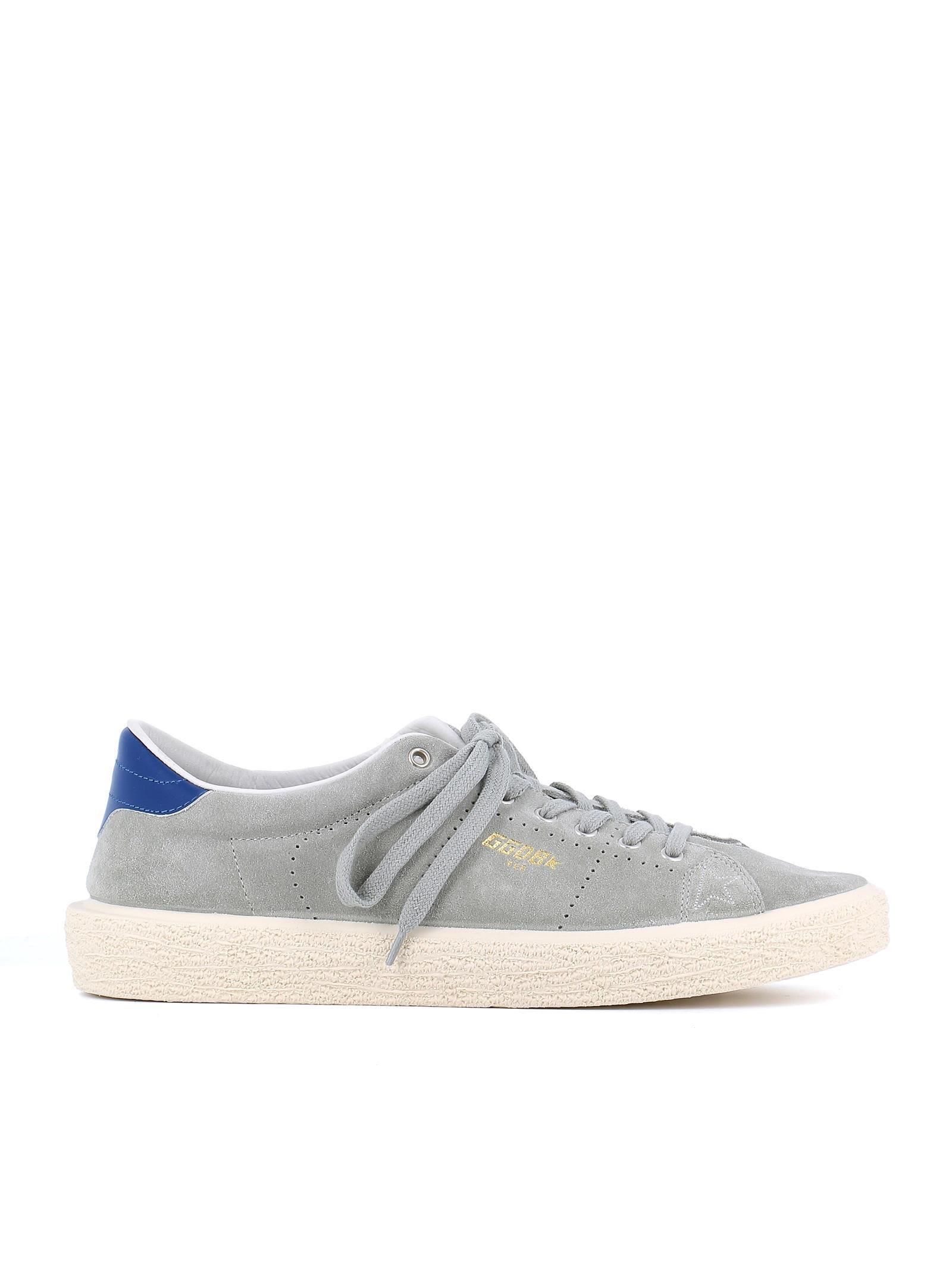 Golden Goose Tennis Sneakers In Grey-Blue