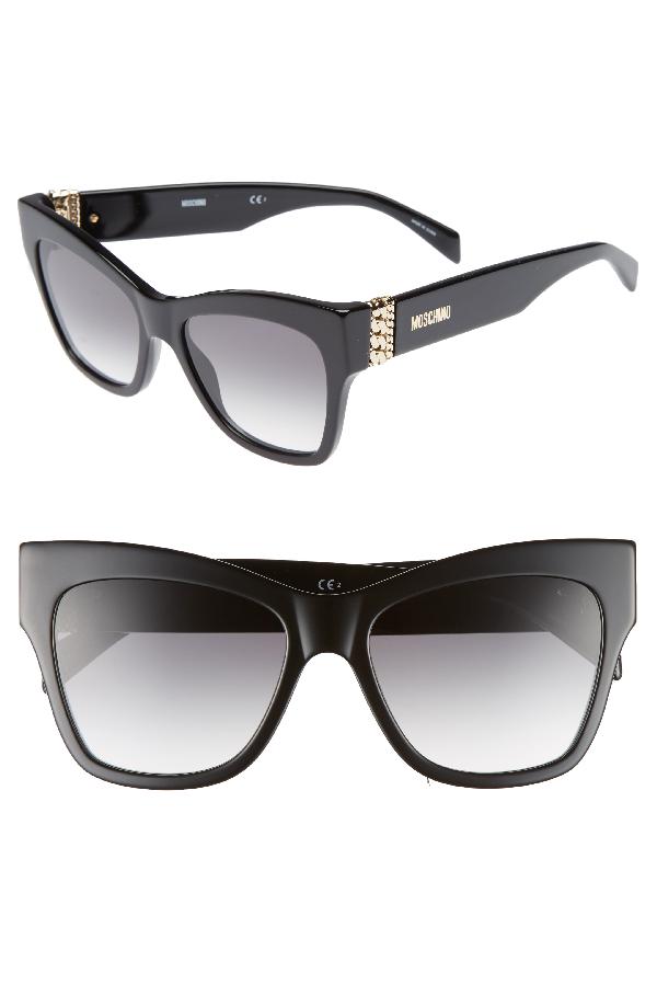 1f99deb0f57f2 Moschino 53Mm Cat s Eye Sunglasses - Purple Black Multi