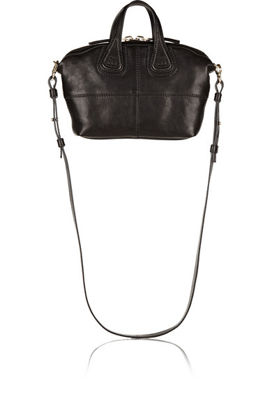 Givenchy Micro Nightingale Textured-Leather Shoulder Bag In Black