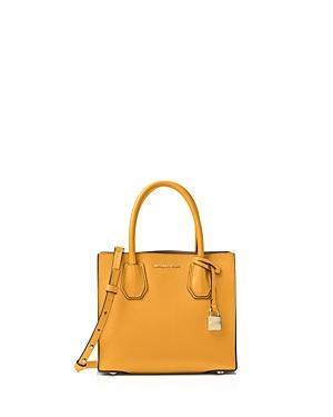1b243c01606b Michael Michael Kors Studio Mercer Medium Leather Messenger In Marigold  Yellow/Gold