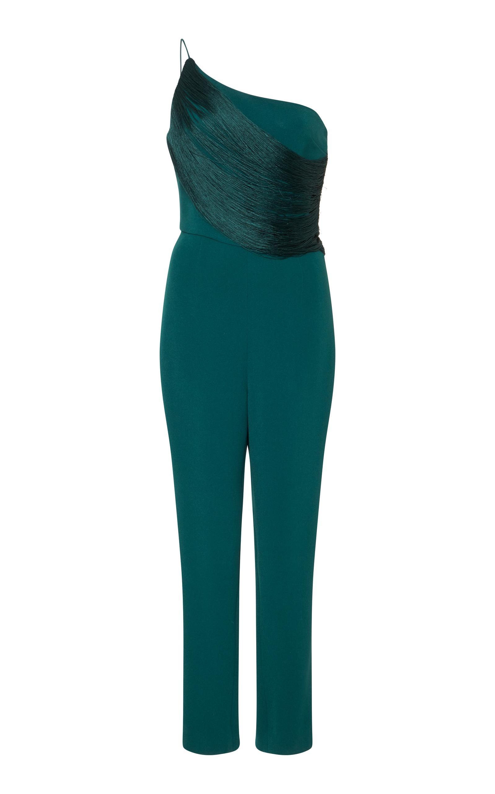 ff26fe8d04a Cushnie Et Ochs Saskia One Shoulder Jumpsuit In Green