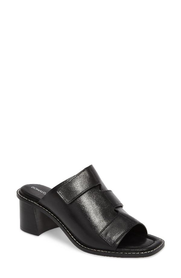 Donald J Pliner Amalia Block Heel Sandal In Black Leather