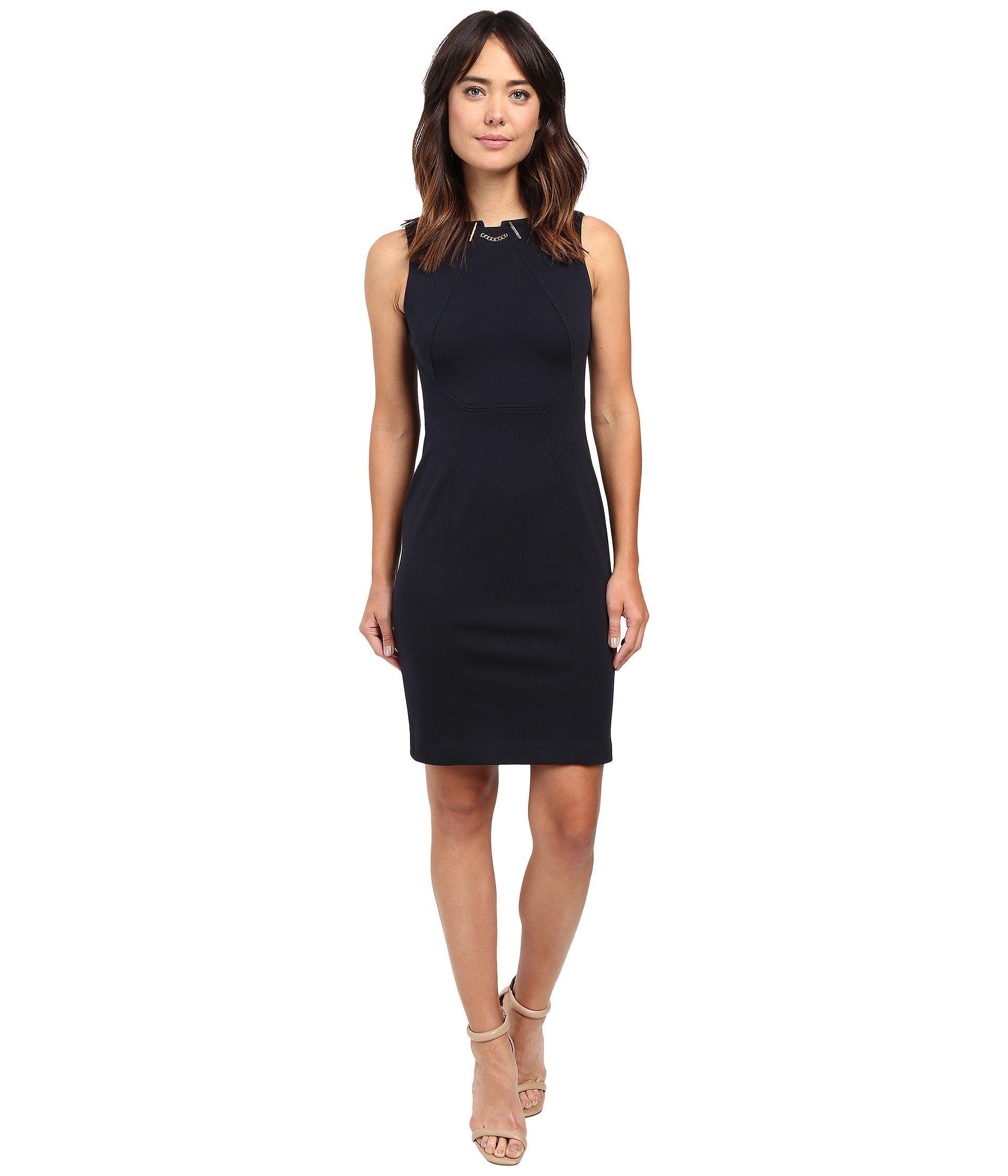 6261613d2b4 Ivanka Trump Ponte Toggle Dress In Navy | ModeSens