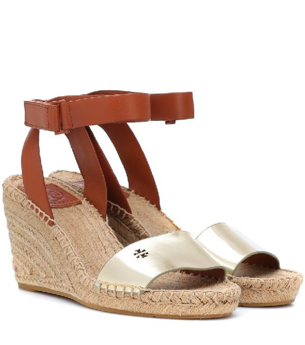 8288c710aebb0b Tory Burch Women S Bima Espadrille Platform Wedge Sandals In Gold ...