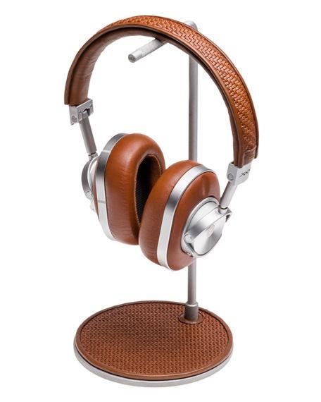 084a1a74362 Ermenegildo Zegna Mw 60 Pelle Tessuta Aluminum Wireless Headphones And Stand,  Brown