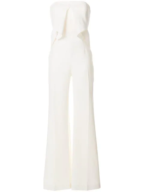 Roland Mouret Wickham Wool-Crepe Jumpsuit In White