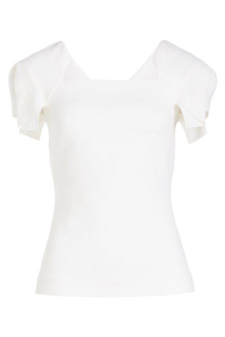 Roland Mouret Darfield Wool Top In White