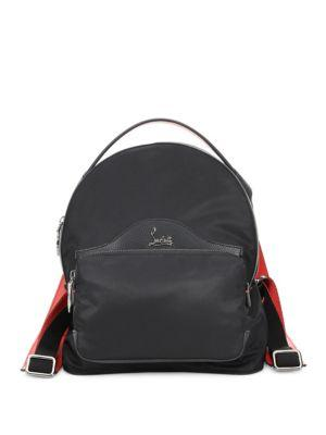 0df75ee556a3 Christian Louboutin Small Backloubi Nylon Backpack - Black In Black  Black