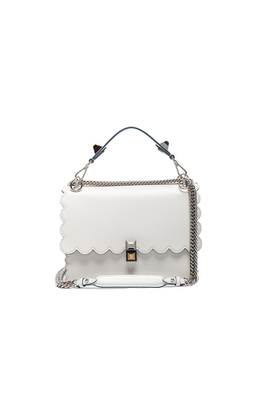 Fendi Women's Leather Shoulder Bag Kan I In White