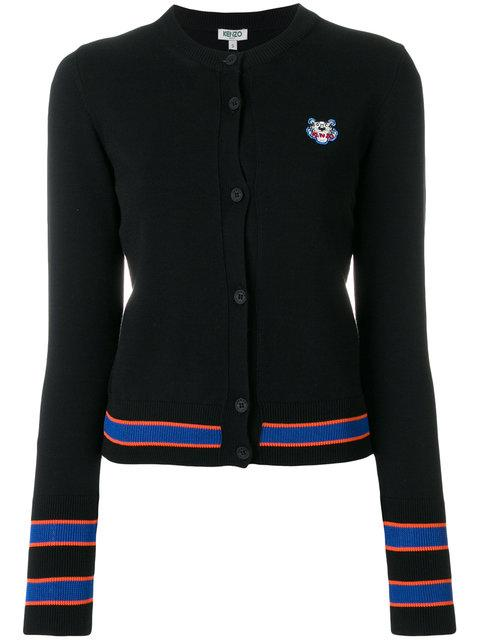 99c7c813 Kenzo Tiger Crest Cotton-Blend Knit Cardigan In Black | ModeSens