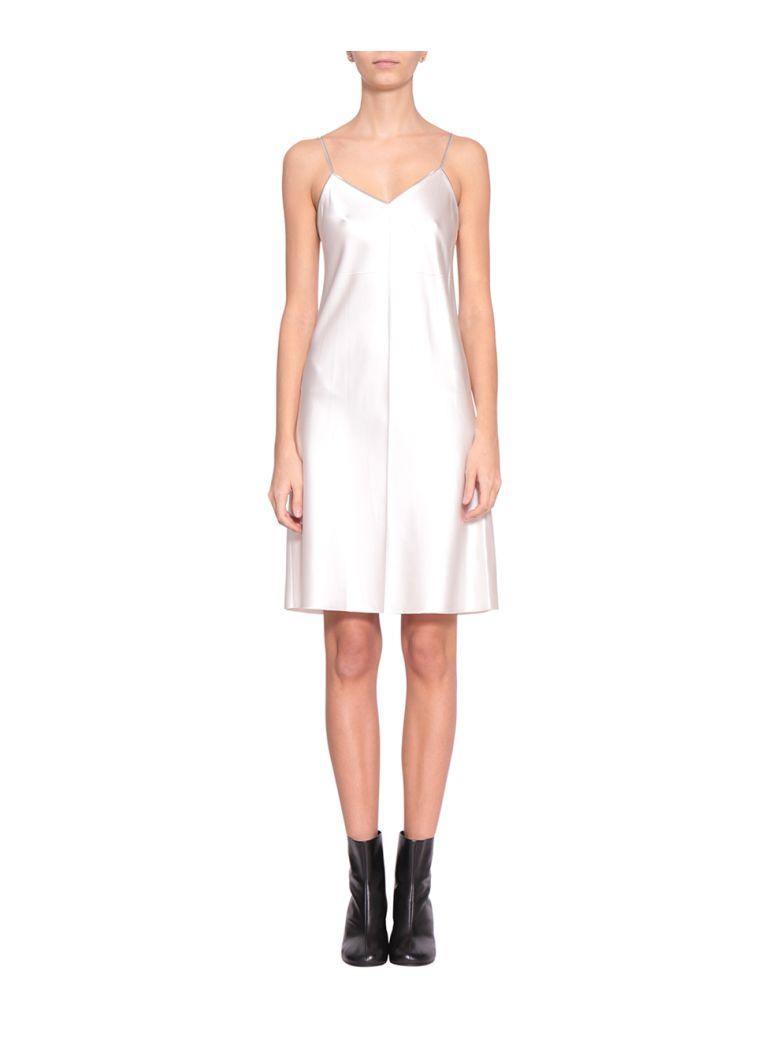 4deb8a587340 Helmut Lang Zipper White Slip Dress In Bianco | ModeSens