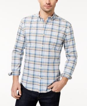 Tommy Hilfiger Men's Bruce Plaid Custom-Fit Shirt, Created For Macy's In Blue