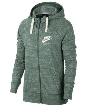 Nike Gym Vintage Full-Zip Hoodie In Clay Green/Sail