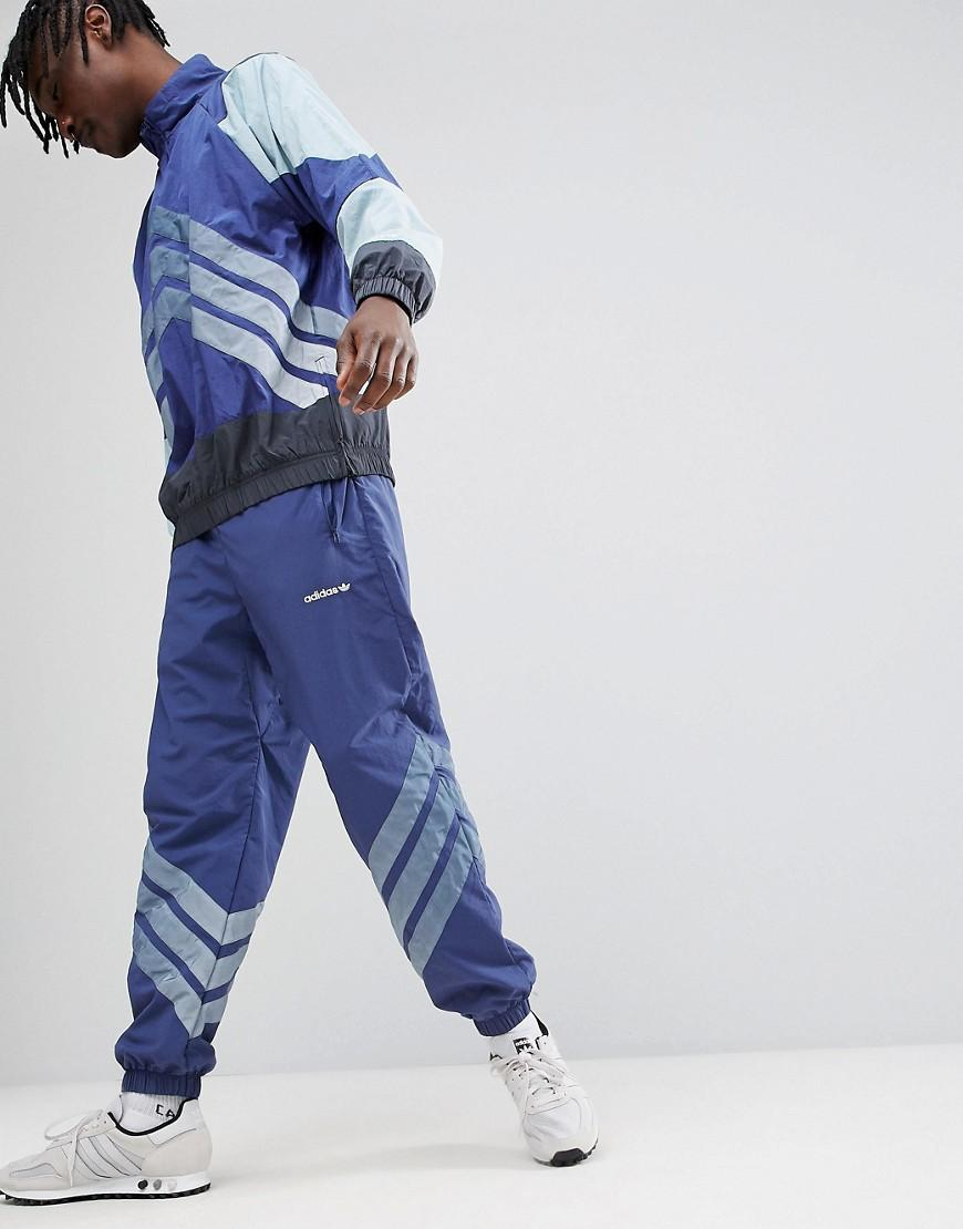 Buy Adidas Originals Blue Side Striped Cuffed Joggers for