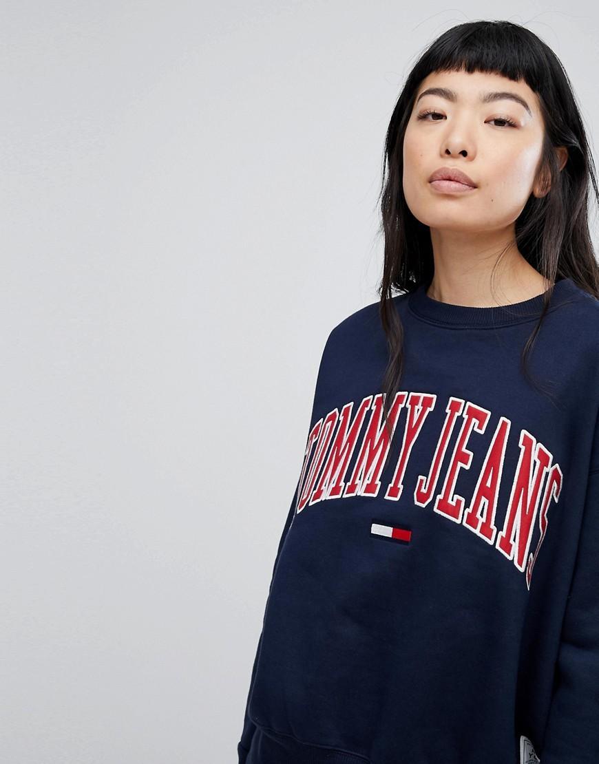 6c1d5330c Tommy Jeans Collegiate Sweatshirt - Navy | ModeSens