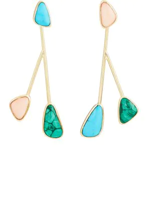 Pamela Love Mismatched Satellite Drop Earrings In Multi