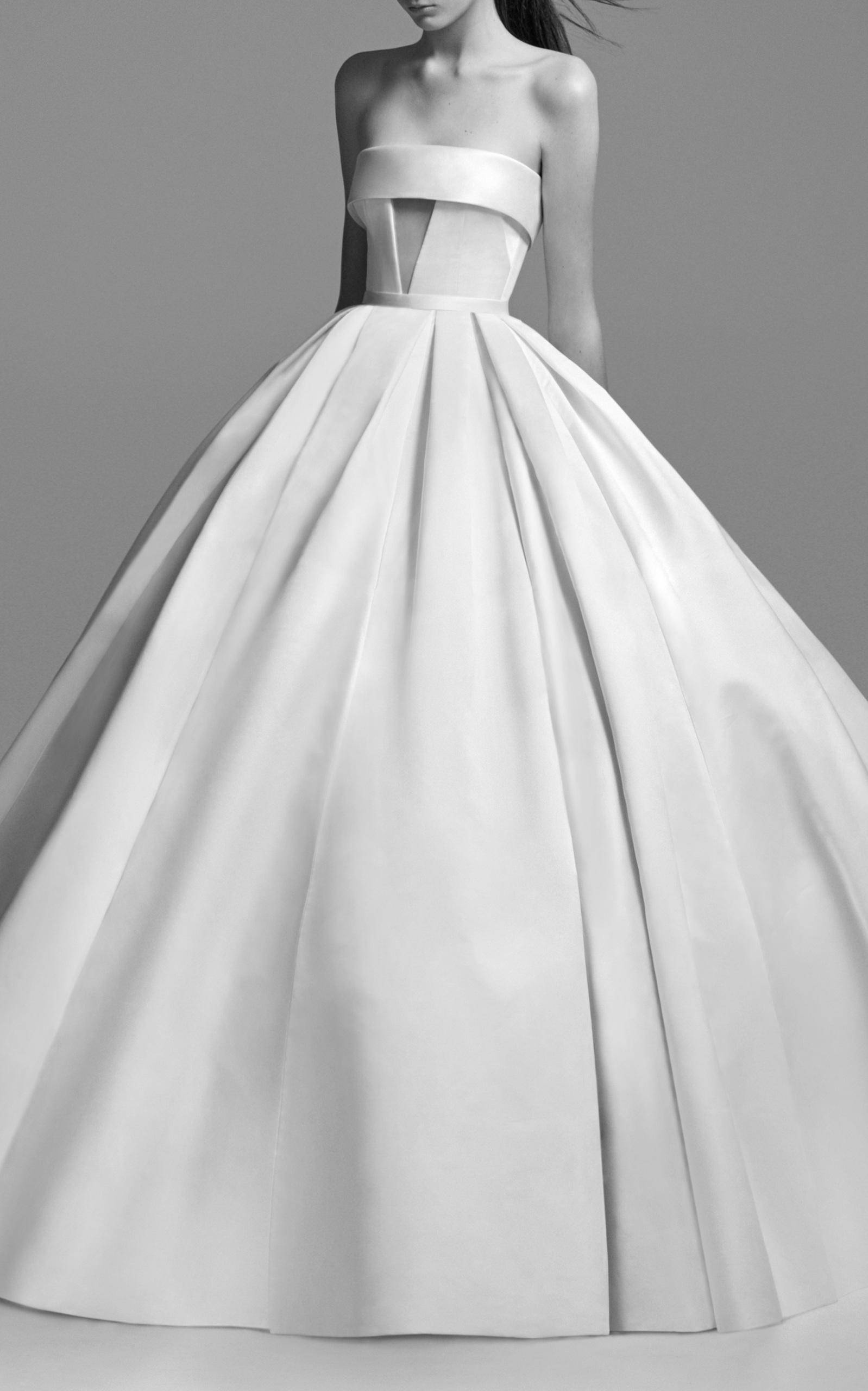 Alex Perry Bride Women's Riley Strapless Satin Cuff Gown In White
