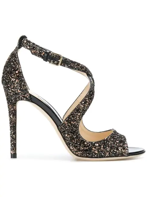 6490401832c2 Jimmy Choo Star Coarse Glitter Sandal Sandals In Charcoal | ModeSens