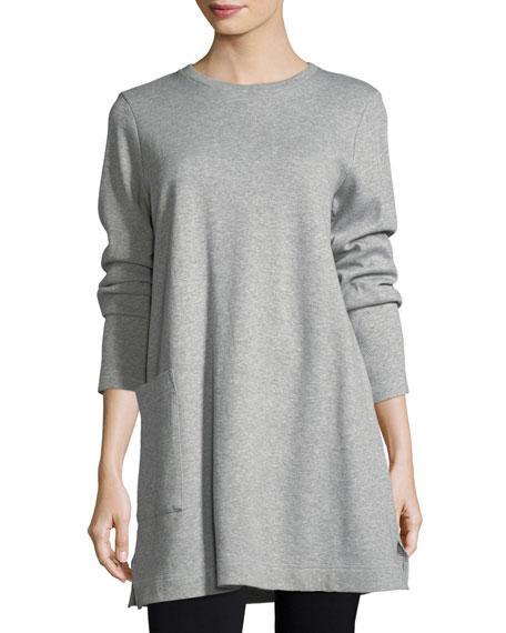 cd376219640 Eileen Fisher Single-Pocket Cotton Tunic, Petite In Dark Pearl ...