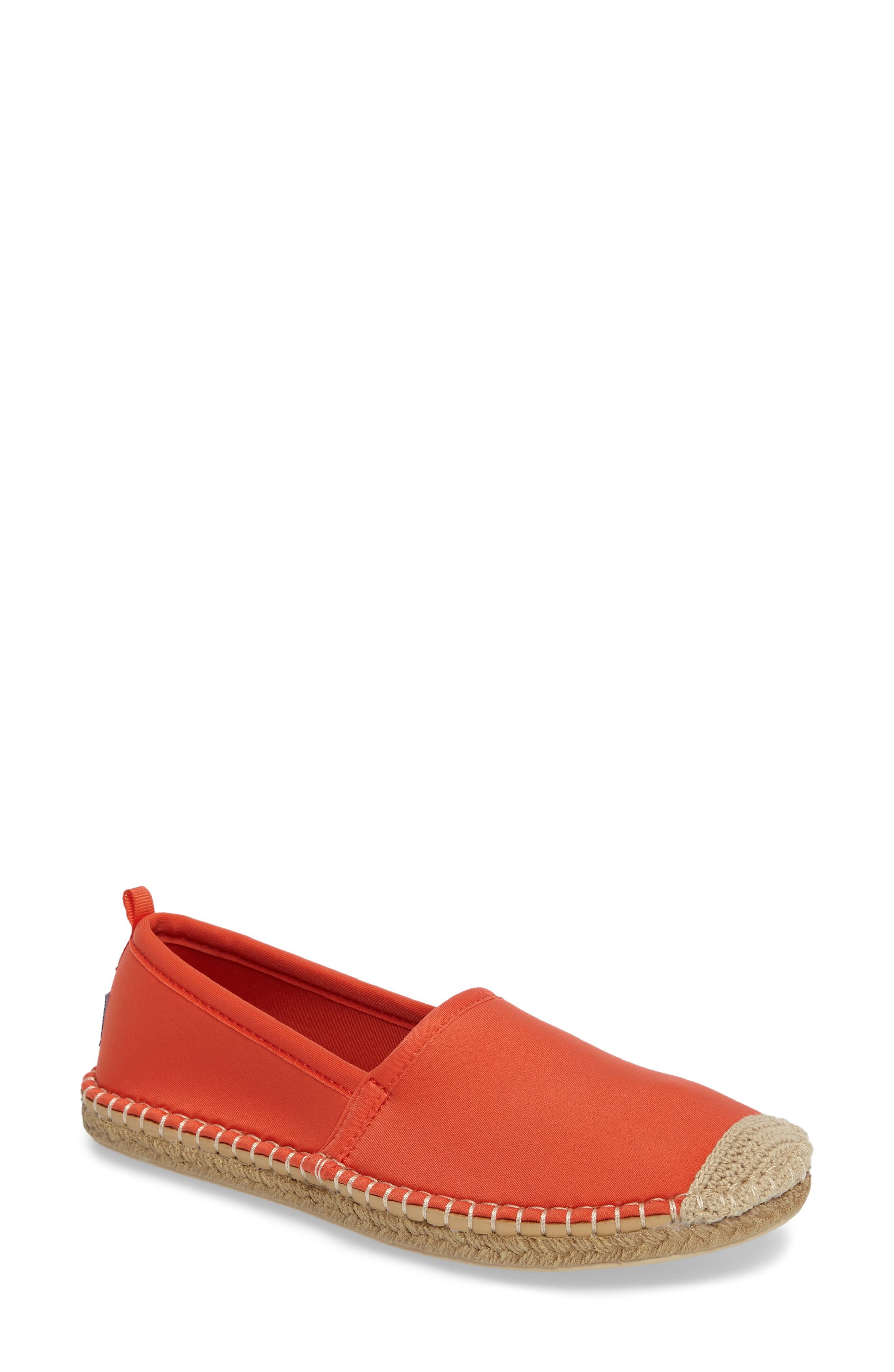 9358e3dde807 Sea Star Beachwear Beachcomber Espadrille Water Shoe In Sea Star Orange  Fabric