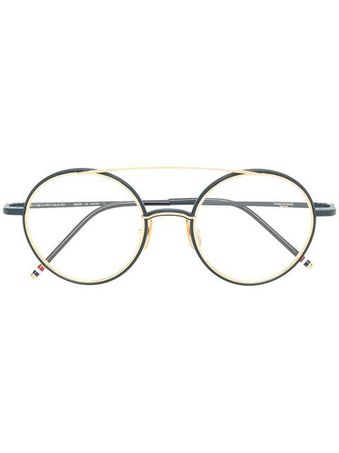 7e9fea5b783 Grey MATTE SILVER TITANIUM OPTICAL GLASSES WITH CLEAR LENS from Thom Browne.  This item is unisex.