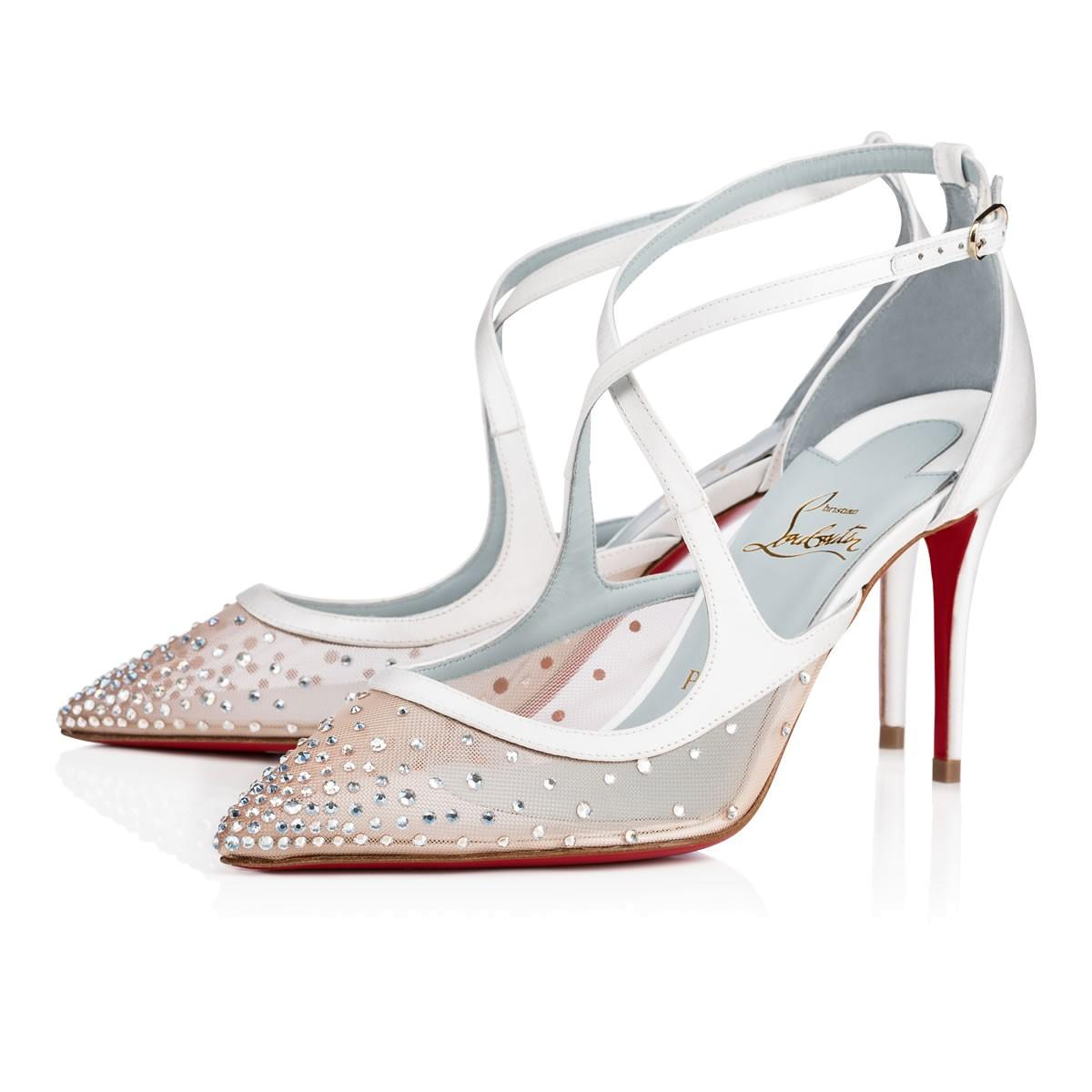 5590708fd94d Christian Louboutin Twistissima Strass Crepe Satin In Crystal ...
