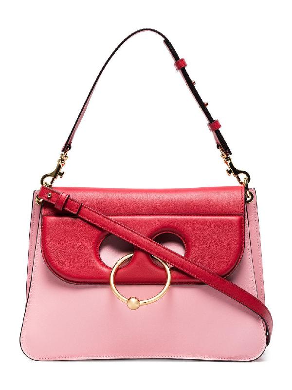 Jw Anderson Pink Pierce Medium Leather Shoulder Bag