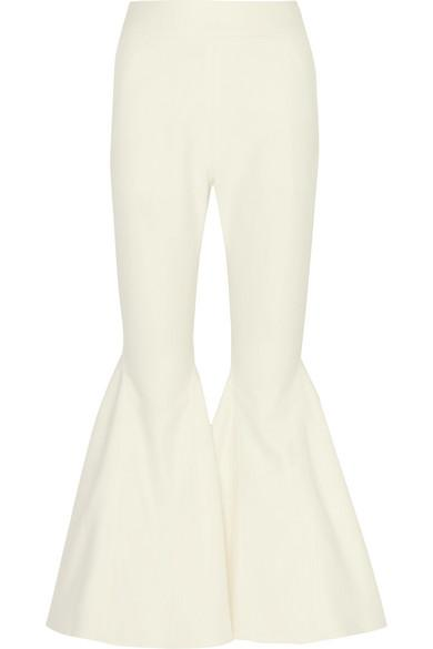Beaufille Zeke Cotton-Blend Flared Pants In White