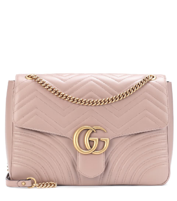 Gucci Gg Marmont Large Shoulder Bag In Pink