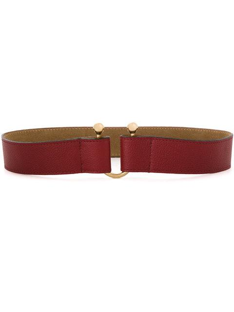 Lilly Sarti Leather Belt In Red