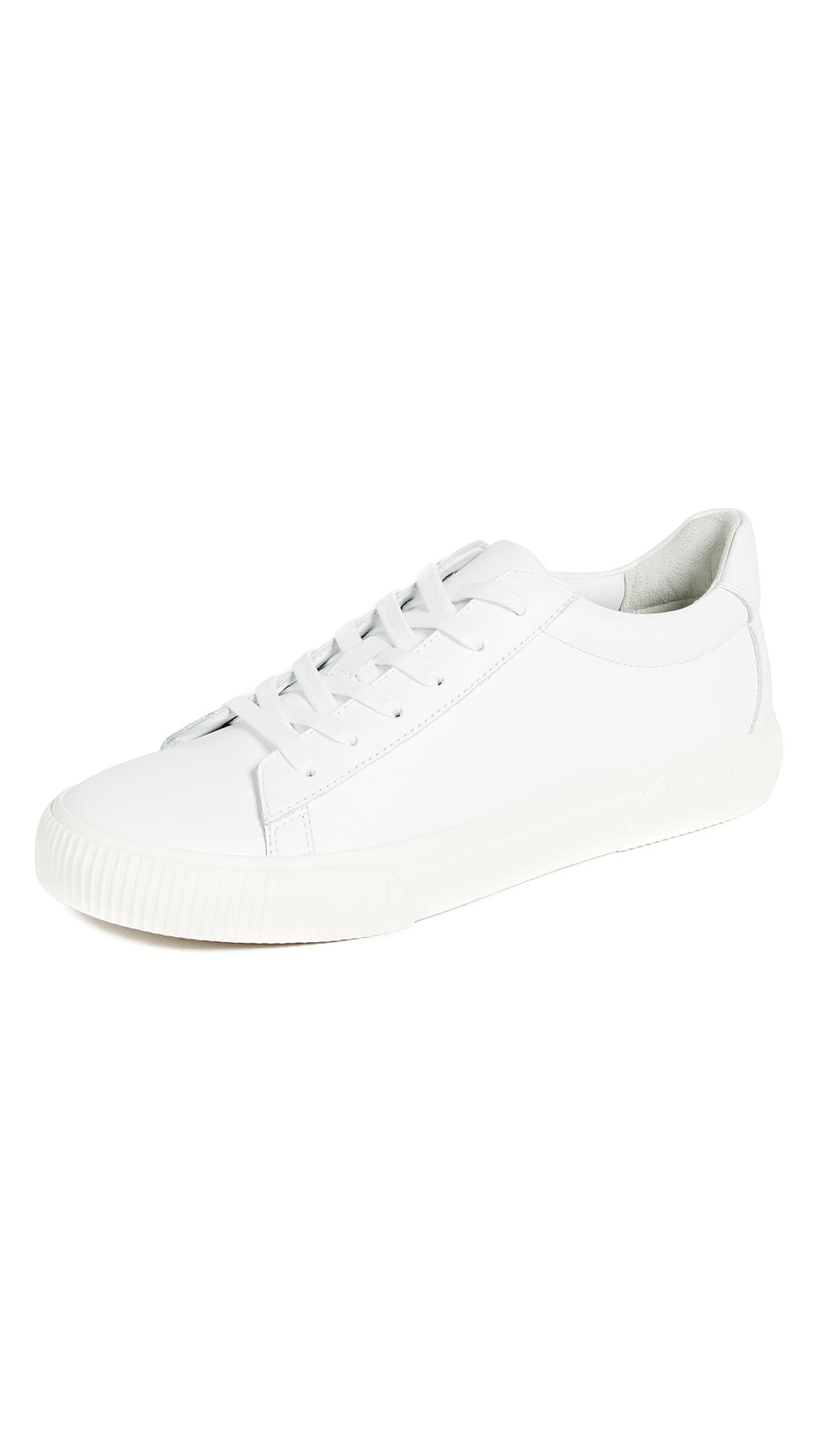 Vince Kurtis Leather Sneakers In White