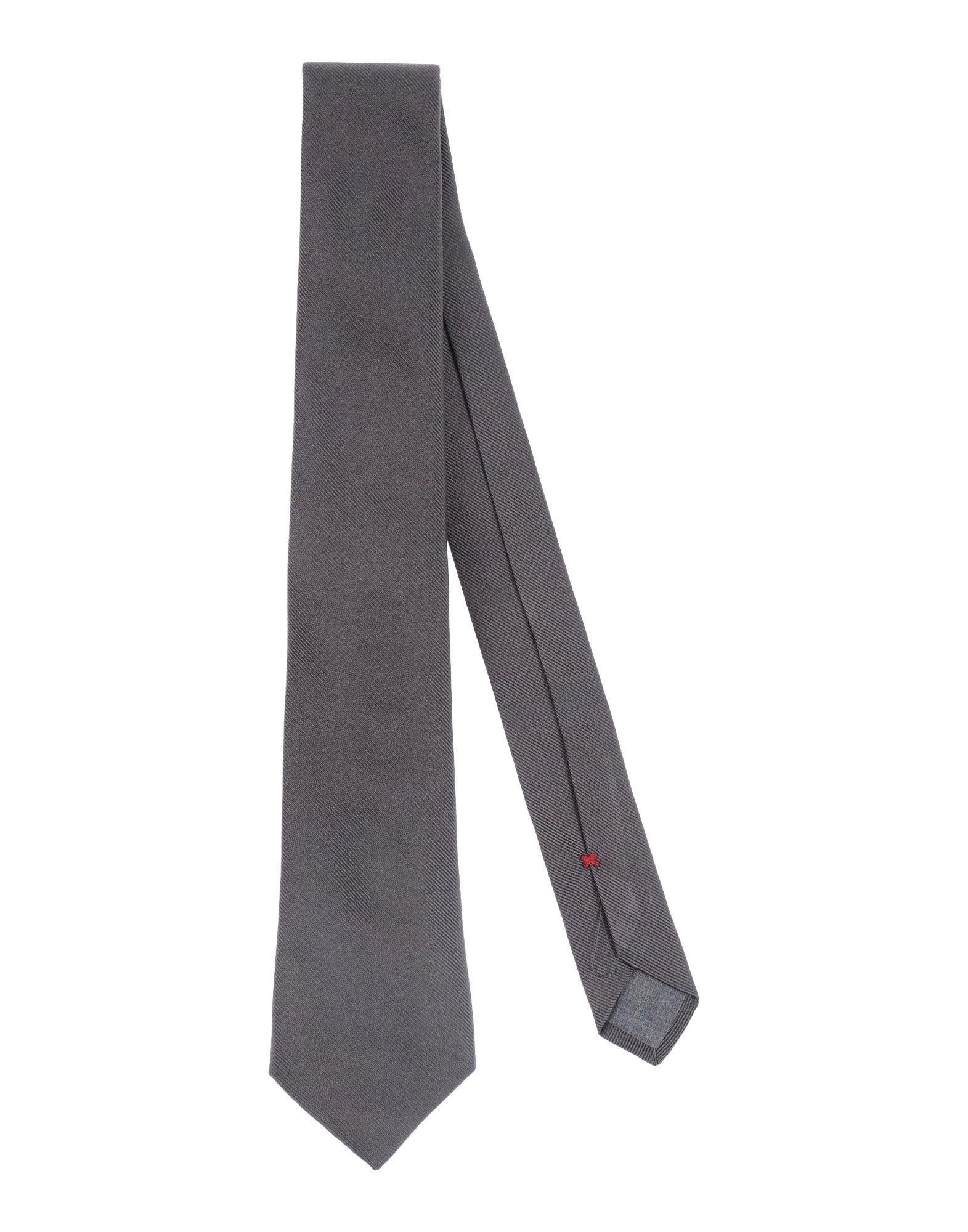 Brunello Cucinelli Ties In Steel Grey