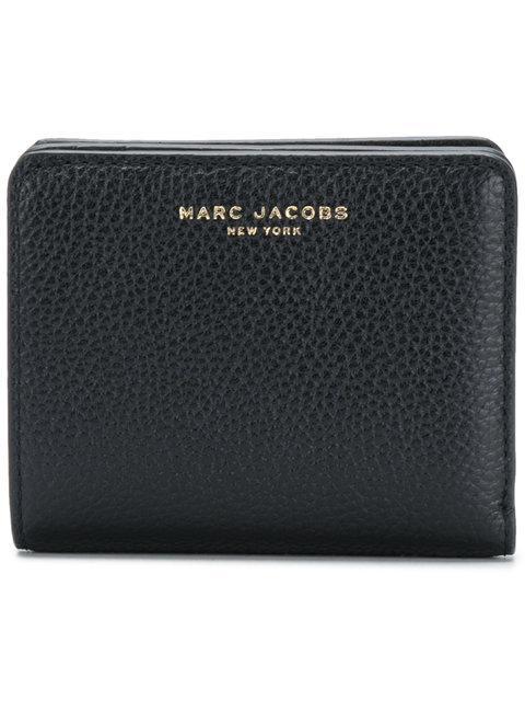 Marc Jacobs Gotham Compact Wallet - Black