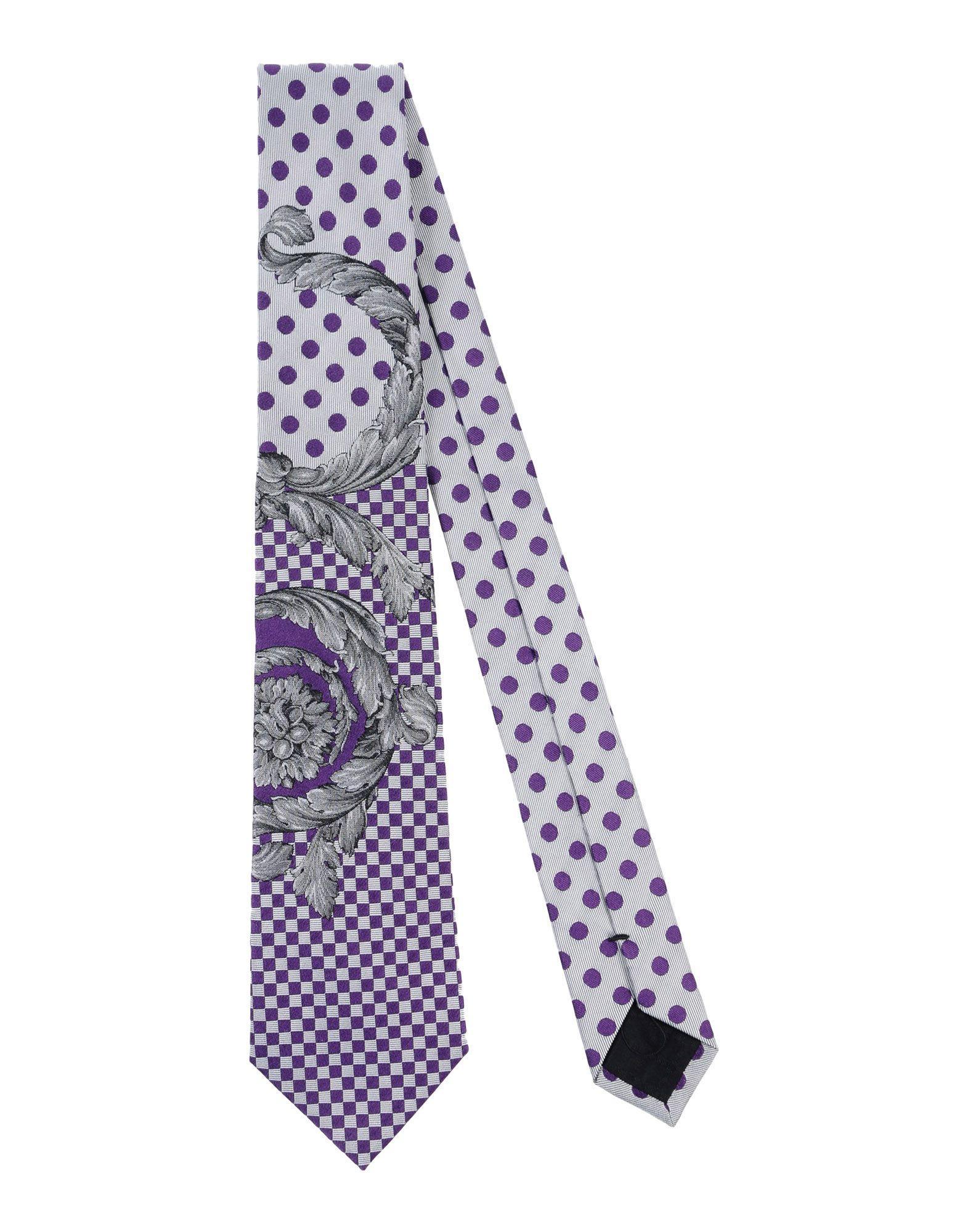 Versace Tie In Purple