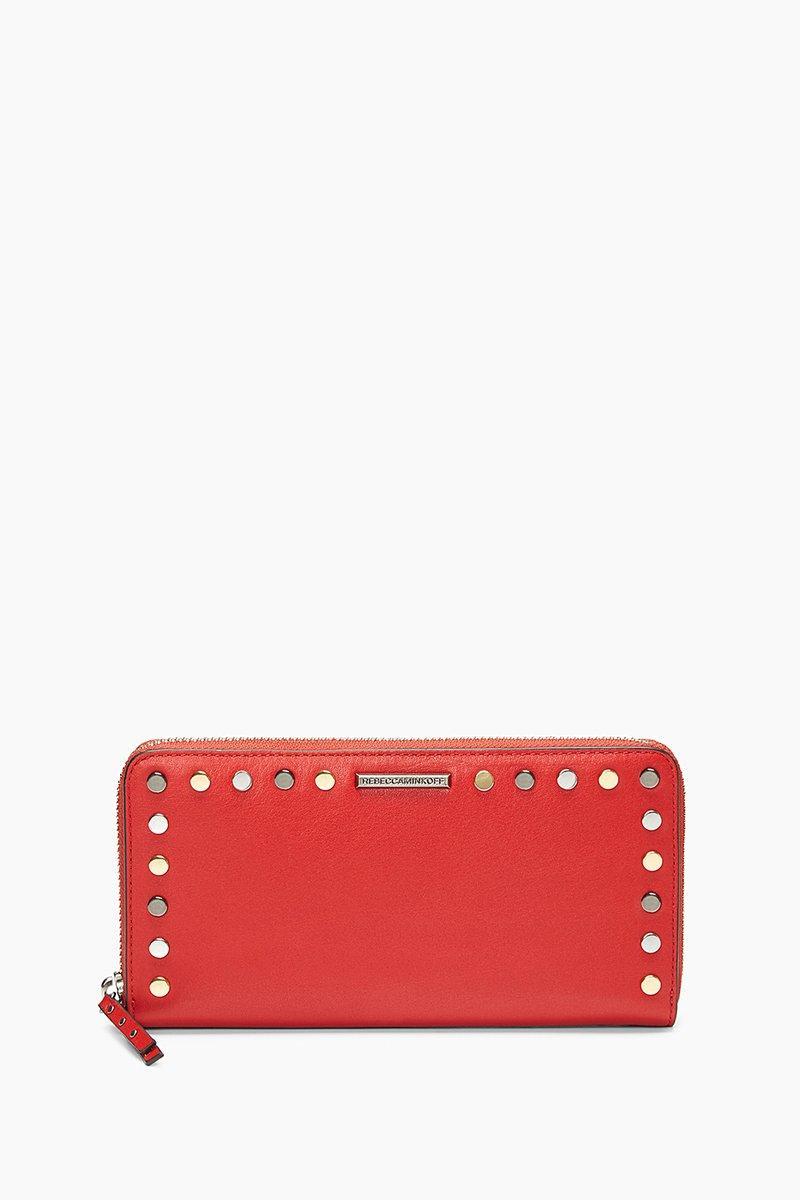 Rebecca Minkoff Midnighter Zip Around Wallet In Carnation Red