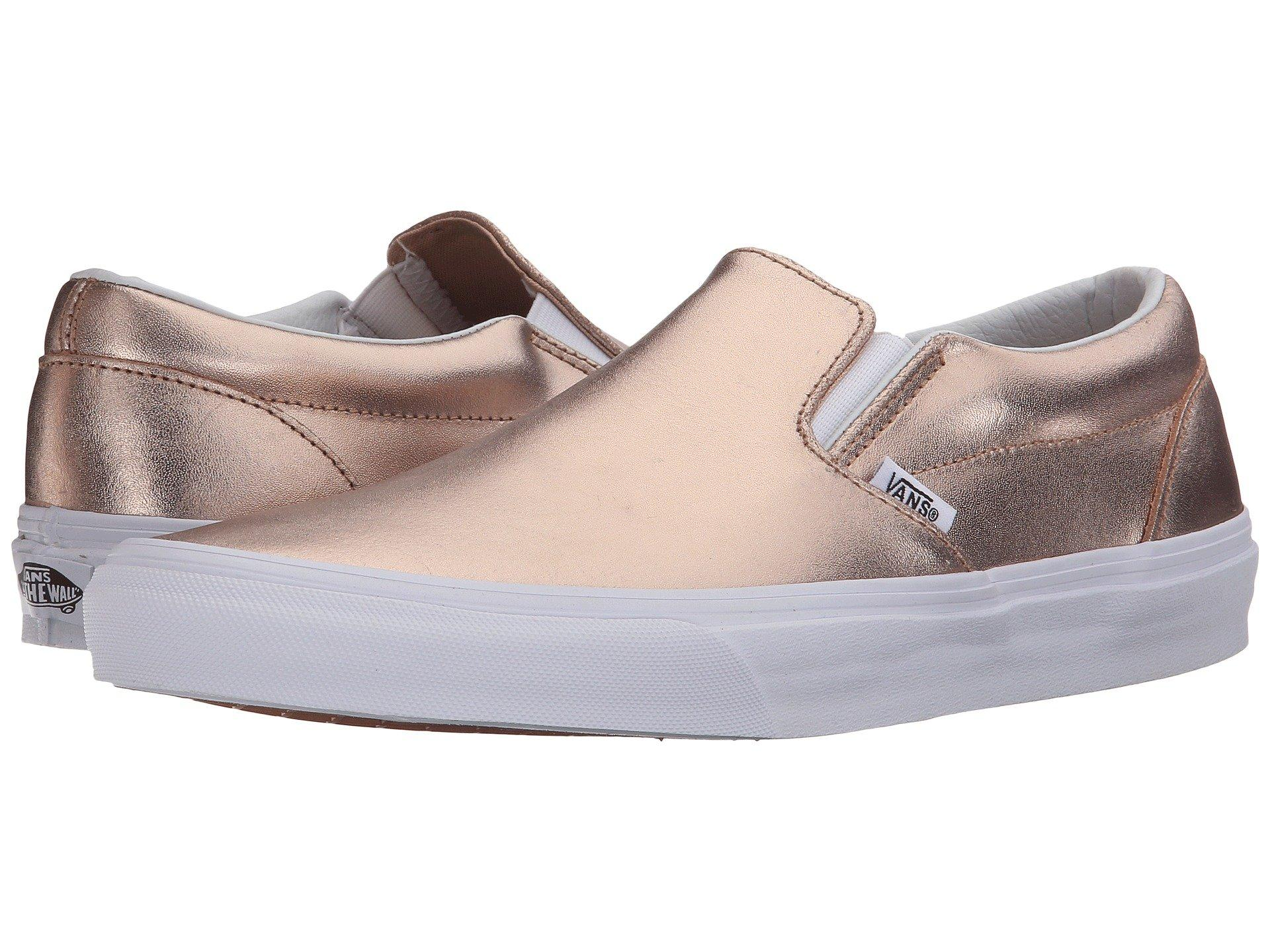 598edf618e67 Vans Classic Slip-On™ In (Metallic Leather) Rose Gold