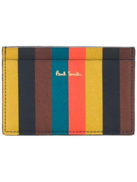 Paul Smith Bright Stripe Credit Card Holder In Multicolour