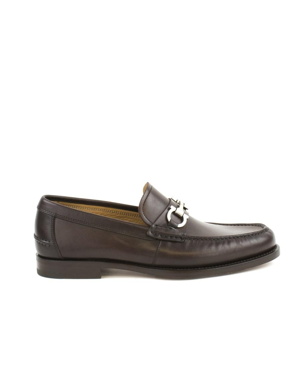Salvatore Ferragamo Leather Bit Loafer In Brown